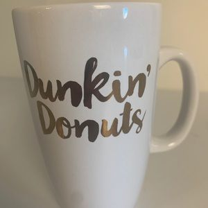 Dunkin Donuts Coffee Mug Cup Gold Letter/Logo 12oz